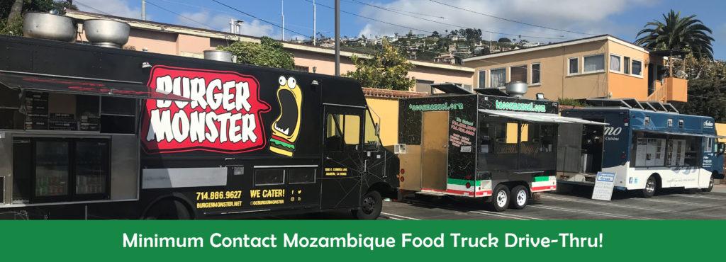 Minimum Contact Mozambique Food Truck Drive-Thru!
